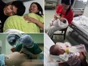 Sau sinh - Xem ca sinh mổ 4 thai của bà mẹ 9x Trung Quốc