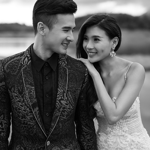 thuy diem goi cam hut hon ben luong the thanh trong anh cuoi - 3