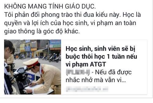 phat hoc sinh vi pham giao thong la viec cua nha truong hay canh sat? - 1