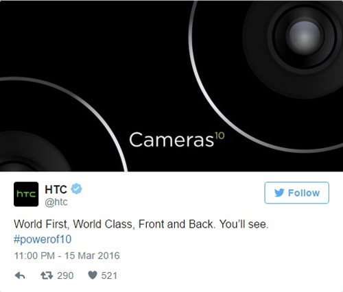 "htc 10 se so huu camera ""tam co the gioi ca o mat sau lan mat truoc"" - 1"