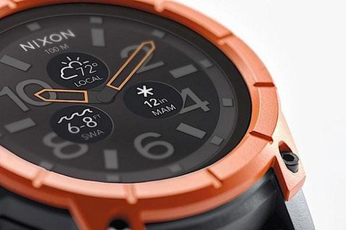 nixon mission, smartwatch lan sau den 100 met - 2