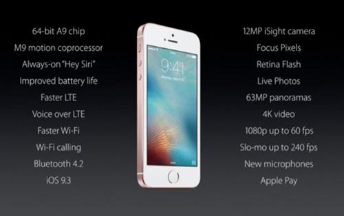 """apple ra mat iphone se: """"hon iphone 6s, da iphone 5s"""" gia gan 9 trieu dong - 3"""