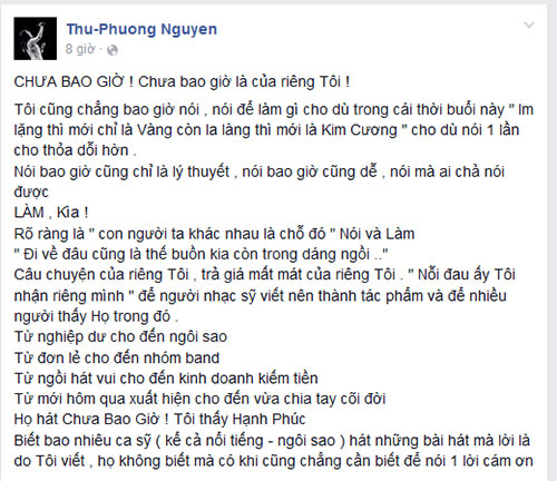"""thu phuong: """"toi chiu dieu tieng de nguoi khac thay minh hay ho"""" - 2"""