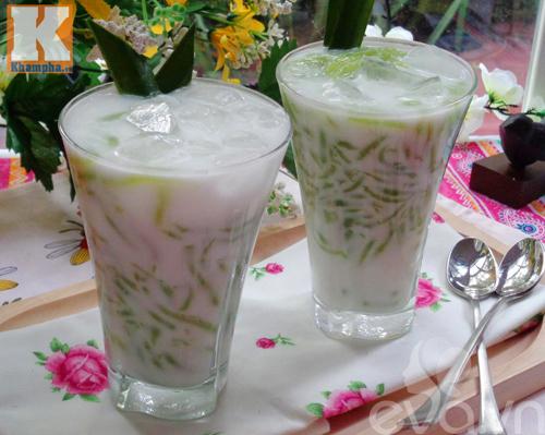 Chè bánh lọt nước cốt dừa thơm ngon-9