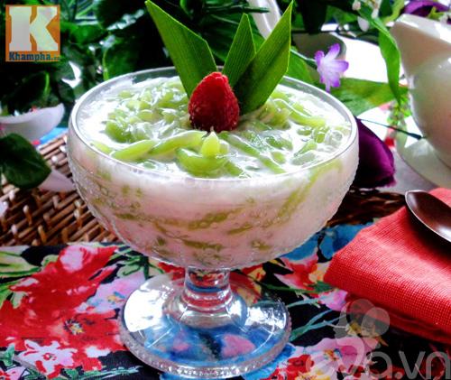 Chè bánh lọt nước cốt dừa thơm ngon-10