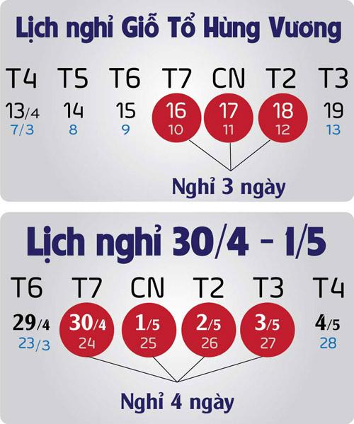 gio to hung vuong va 30/4-1/5 duoc nghi bao nhieu ngay? - 1