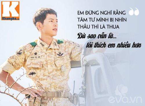 """Đo độ """"mặt dày"""" của Song Joong Ki trong Hậu duệ mặt trời-17"""