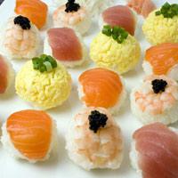 Cuối tuần làm sushi temari tròn quay