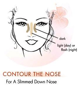 Phối màu sáng tối cho mũi cao lên - 1