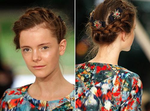 Quyến rũ và sành điệu như tóc tết cô dâu - 1