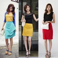 Chân váy màu sắc cho hè thêm trẻ trung