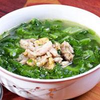 Canh cải xanh cá rô đồng