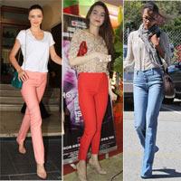 5 kiểu quần jean hot nhất hè 2012