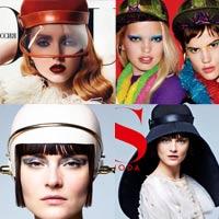 Những kiểu nón tuyệt đẹp trên tạp chí