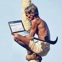 Vui cười: Thổ dân cũng mê Facebook