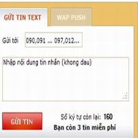 Mẹo nhắn tin SMS không tốn tiền