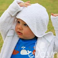 May áo choàng tắm thay lời 'yêu con'