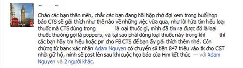 Adam Nguyễn tung bằng chứng chuyển tiền cho Cao Thái Sơn - 1