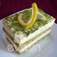 Bánh mousse trà xanh chanh vàng
