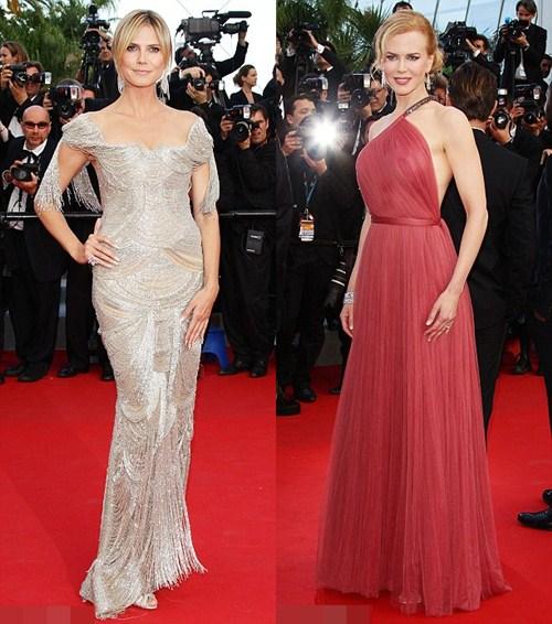 Heidi Klum và Nicole Kidman 'đọ' lưng trần quyến rũ - 1