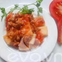Dừa sốt cà chua thịt băm
