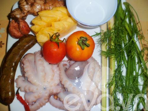 Canh bạch tuộc nấu dứa - 1