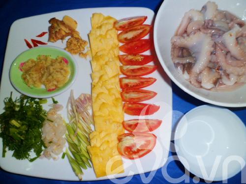 Canh bạch tuộc nấu dứa - 3