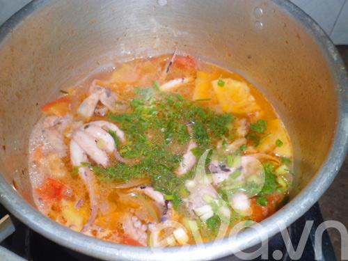 Canh bạch tuộc nấu dứa - 7