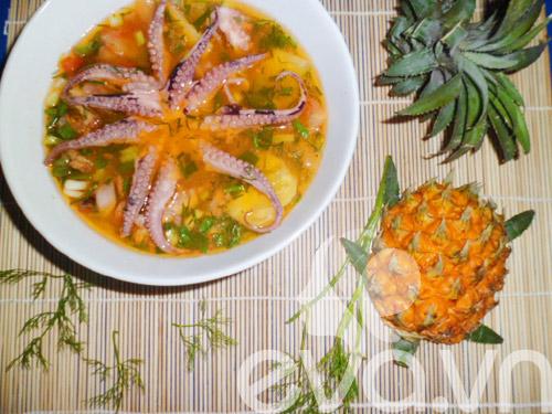 Canh bạch tuộc nấu dứa - 8