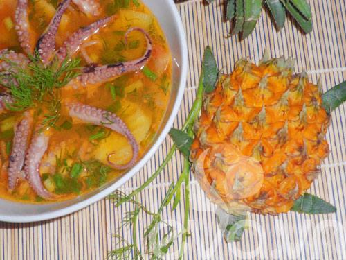 Canh bạch tuộc nấu dứa - 9