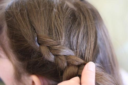 Tết tóc viền làm điệu cho bé - 2