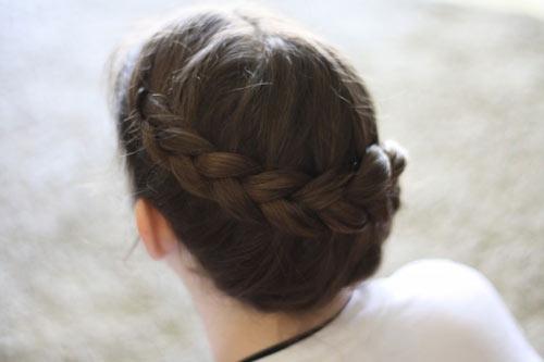 Tết tóc viền làm điệu cho bé - 4