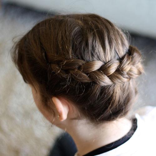 Tết tóc viền làm điệu cho bé - 7
