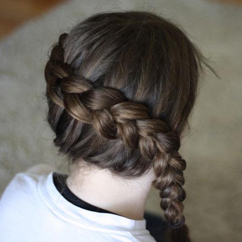 Tết tóc viền làm điệu cho bé - 5