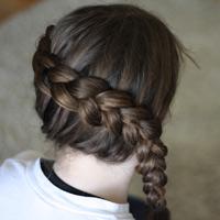 Tết tóc viền làm điệu cho bé