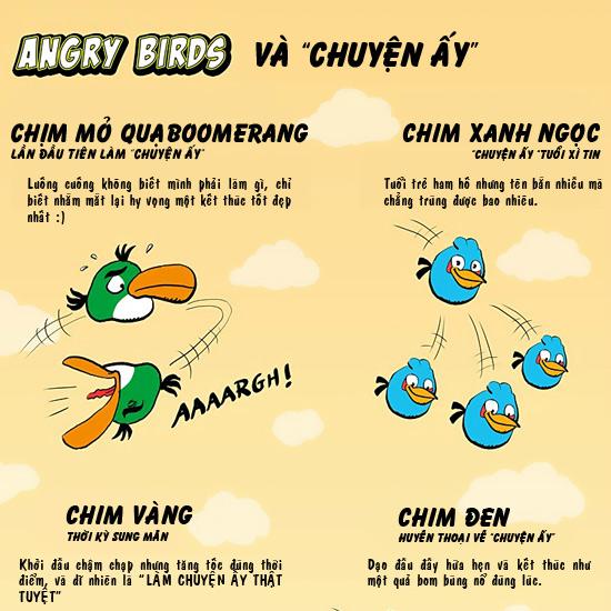 "Chơi Angry Birds, đoán thử ""chuyện ấy"" - 1"