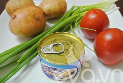 Đổi món với khoai tây xào pate - 1