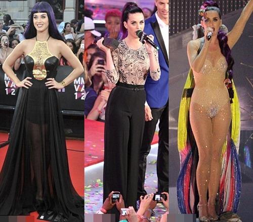 Katy Perry 'ngượng chín mặt' vì đồ trong suốt - 1