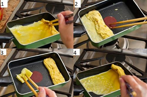 Chiêu làm trứng cuộn ngon như của Nhật - 6