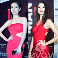 Mai Phương Thúy, Thùy Dung diện váy đỏ 'đọ dáng'
