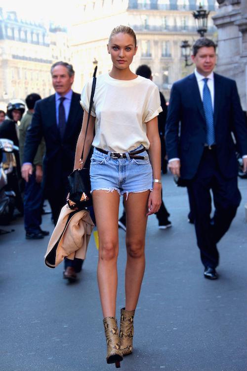 Hè cực chất với bộ đôi ankle boot và quần sooc