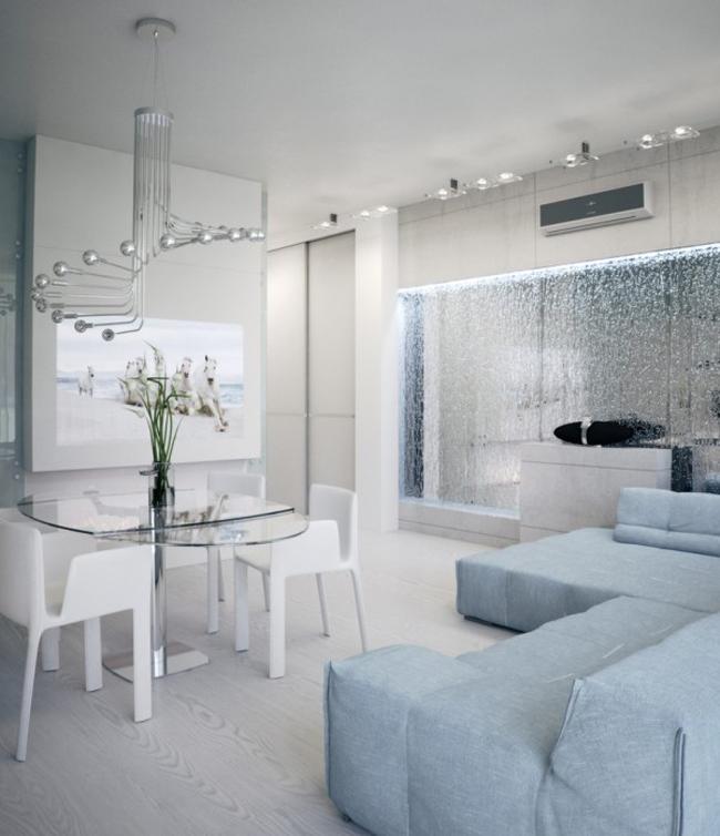 Ngay từ khi nhìn thấy căn hộ đẹp tái tê này, hẳn ai cũng phải choáng ngợp trước màu trắng tinh khôi và vẻ hiện đại của nó. Riêng đối với tôi, đây là một căn hộ gần giống với hình dung của tôi suốt 30 năm qua về một ngôi nhà lý tưởng.