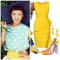 Thời trang - Sao Việt 'rực rỡ' cùng vàng chanh