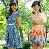 Đầm voan hoa đón nắng hè sang