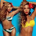Thời trang - Beyonce khoe cơ thể đồng hồ cát căng mịn