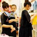 Làng sao - Vợ Lý Hải bụng bầu 7 tháng đi mua sắm