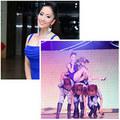 Làng sao - Khánh Thi ngồi gọn trên lưng vũ công