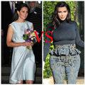 Thời trang - Thời trang bầu trái ngược giữa Kate Middleton và Kim