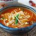 Bếp Eva - Canh giá đỗ với kim chi Hàn Quốc