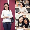 Làng sao - Diễm Hương giản dị đi giao lưu cùng sinh viên